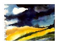 Gouachemalerei, Aquarellmalerei, Aquarell, Sturm