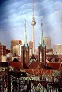 Kirche, Kreuzberg, Bürogebäude, Temperamalerei