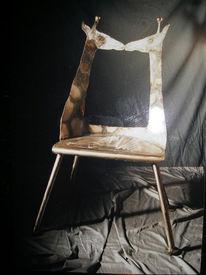 Skulptur, Plastik, Stuhl