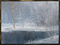 Wasse, Fluss, Winter, Landschaft
