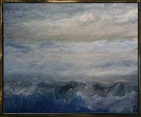 Berge, Elemente, Wolken, Licht