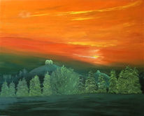 Wald, Emmental, Feuer, Rot