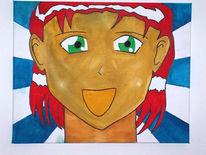Frau, Manga, Anime, Rot