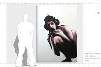 Austellung, Figur, Spraycan, Weiß