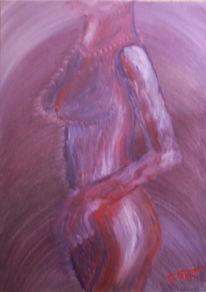 Wolf, Malerei, Akt, Violett