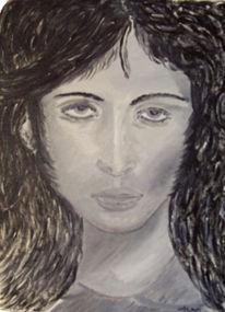 Wolf, Malerei, Portrait,