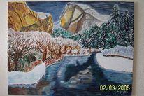 Wasser, Winter, Landschaft, Berge