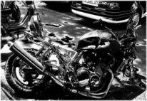 Fotografie, Straße, Motorrad