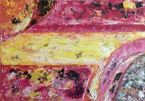 Malerei, Acrylmalerei, Rot, Flammen