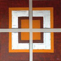 Chrom, Malerei, Abstrakt, Acrylmalerei