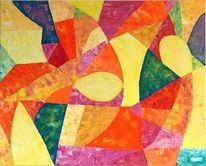 Abstrakt, Acrylmalerei, Malerei,