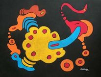 Bewegung, Malerei, Farben, Menschen