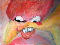 Monster, Surreal, Malerei, Acrylmalerei