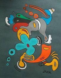 Malerei, Motorrad, Pastellmalerei,