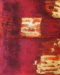 Malerei, Rot, Struktur, Gold
