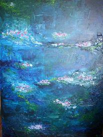 Wasser, Malerei, See, Blau