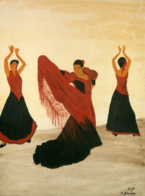 Spanien, Malerei, Flamenco, Figural