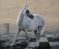 Pferde, Schach, Malerei, Tiere