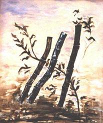 Glücksbringer, Malerei, Störrisch, Landschaft