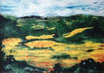Warm, Landschaft, Wohltuend, Malerei