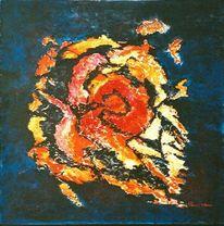 Ausbruch, Leid, Abstrakt, Malerei