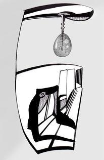 Lampe, Nacht, Einsamkeit, Flur