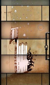 Surreal, Eingesperrt, Tür, Malerei