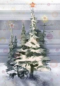 Stern, Weihnachten, Schnee, Winter