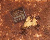 Malerei, Kaffee, Glas