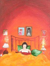 Schlaf, Traum, Bett, Malerei