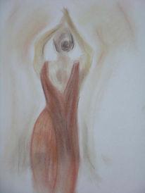 Pastellmalerei, Menschen, Tanz, Zeichnung