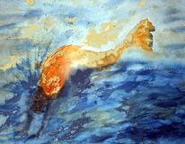 Digital, Grafik, Aquarellmalerei, Meerjungfrau