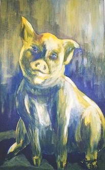 Abstrakt, Malerei, Schweinehund, Schwein