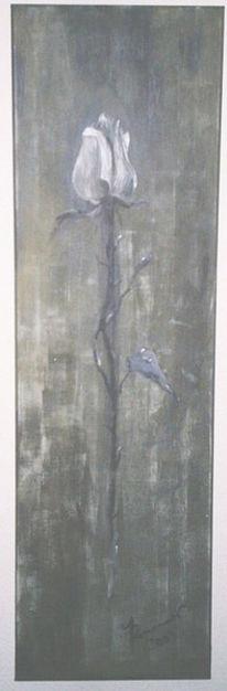 Malerei, Acrylmalerei, Rose, Pflanzen