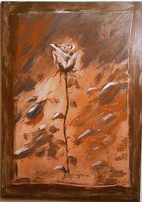 Dekoration, Rose, Malerei, Stillleben