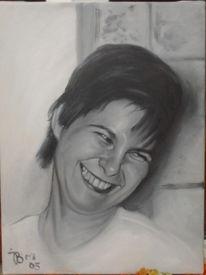 Malerei, Portrait, Figural, Ölmalerei