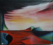 Surreal, Malerei, Ewig, Rot
