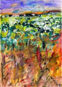 Farben, Wolken, Freihand, Stimmung