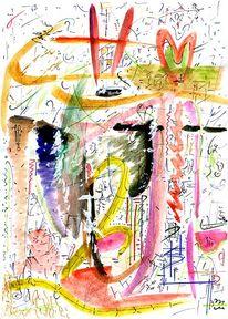 Zeichen, Licht, Farben, Mixed media