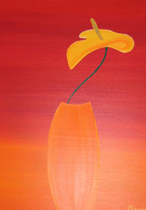 Orange, Warm, Verlauf, Malerei