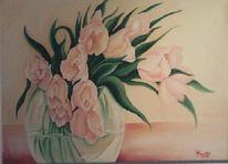 Tulpen, Sarstedt, Rosa, Ölmalerei