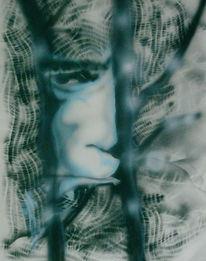 Vater, Abstrakt, Malerei, Sehnsucht