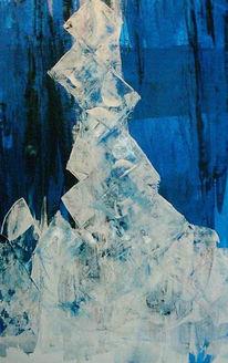 Blau, Malerei, Weiß, Gegensatz