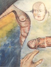 Gesicht, Malerei, Hand, Körper