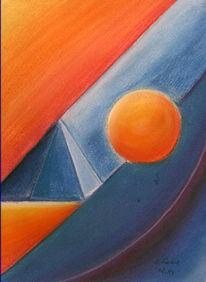 Pyramide, Kugel, Malerei, Kegel