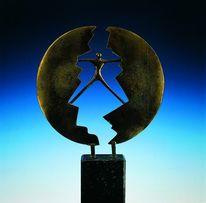 Vermittler, Bronziert, Kunsthandwerk, Metall