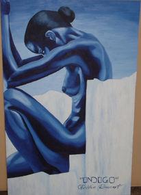 Malerei, Figural, Indigo