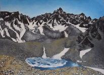 Schnee, Landschaft, Ruhe, Schmelzsee