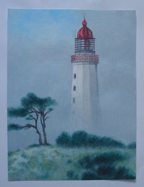 Hiddensee, Landschaft, Wind, Nebel