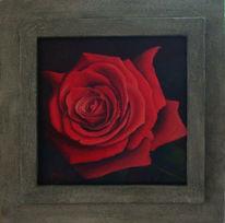Stillleben, Malerei, Rot, Rose